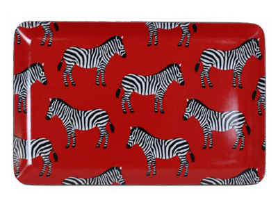 Red Zebra Tray