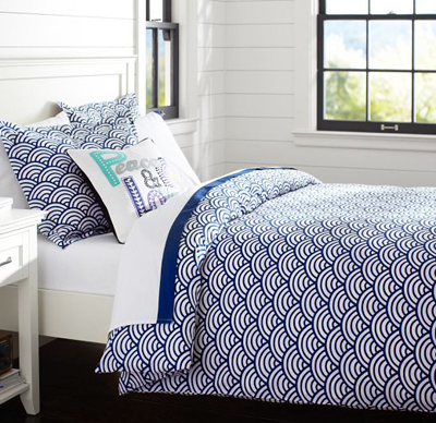 Royal Navy Quincy Scallop Duvet Cover