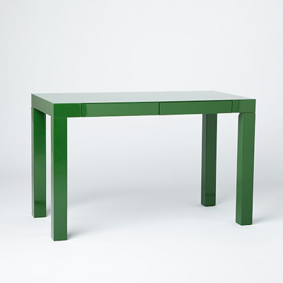 Spruce Green Parsons Desk With Drawers