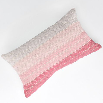 Tea Party Ombre Lace Decorative Pillow
