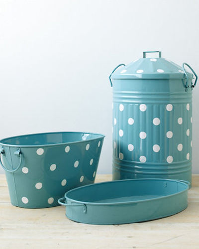 Turquoise Dots Storage Accents
