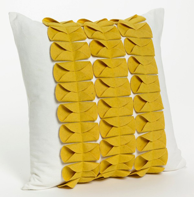 Yellow Couture Pillow