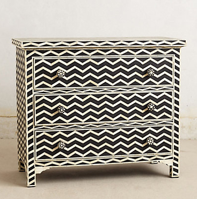 Chevron Inlay Dresser