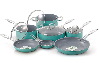 Fiesta Turquoise 11-Piece Ceramic Cookware Set