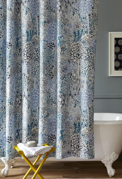 Curtains Ideas blue paisley shower curtain : Blue Shower Curtains | Decor by Color
