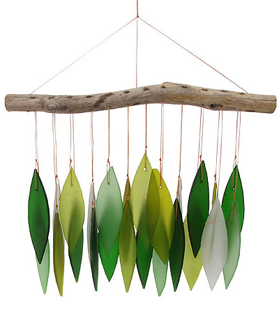 Green Leaf & Driftwood Chime