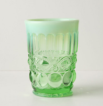 Green Opalescent Tumbler