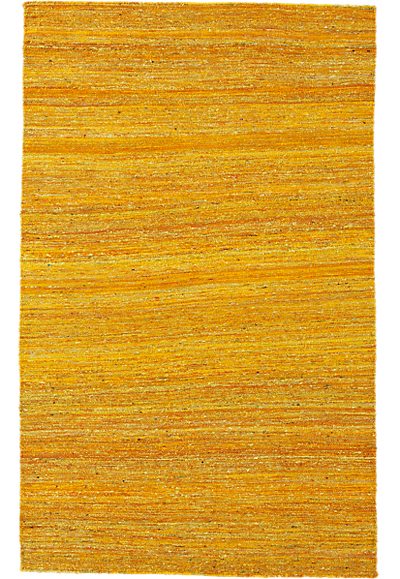 Handwoven Recycled Yellow Silk Rug