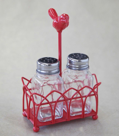 Hello Birdie Salt And Pepper Shakers With Stand