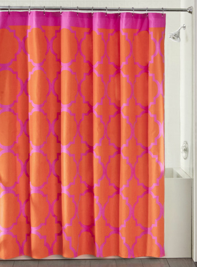 Jay Fret Shower Curtain