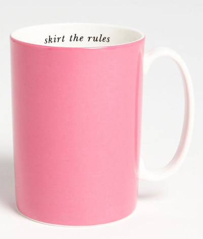 Kate Spade Skirt the Rules Porcelain Mug