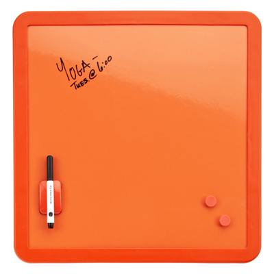 Orange Magnetic Dry Erase Board