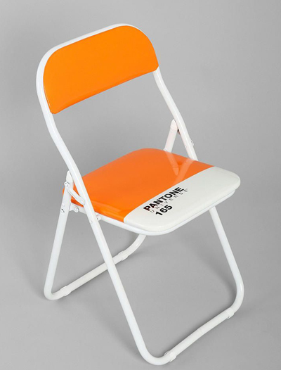 Pantone Orange Folding Chair