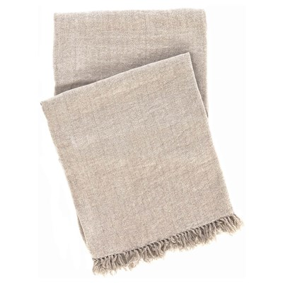Pine Cone Hill Linen Chenille Natural Throw Blanket