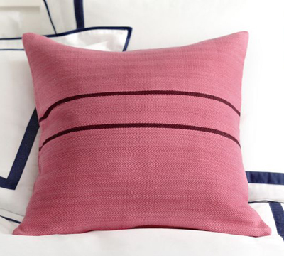 Pink Grainsack Pillow Cover