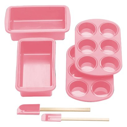 Pink Silicone Solutions 6-pc. Bread Baking Set