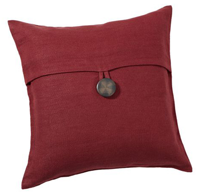 Red Textured Linen Pillow Cover