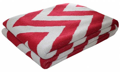 Red Zigzag Blanket