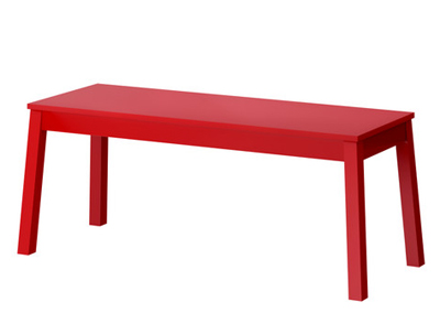 Sigurd Red Bench