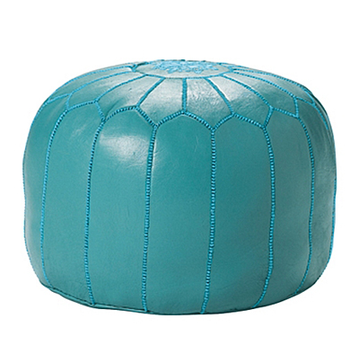 Turquoise Moroccan Leather Pouf Decor By Color Simple Turquoise Moroccan Pouf