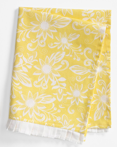 Yellow Calypso Soleil Kitchen Towel