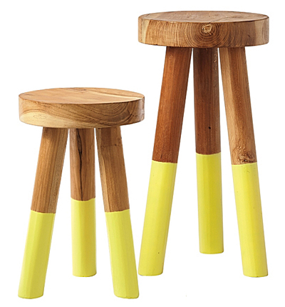 Citrine Dip Dyed Stools