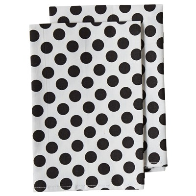 Jessie Steele White & Black Polka Dots Napkins