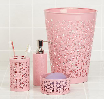 Pink Wildflower Bath Collection