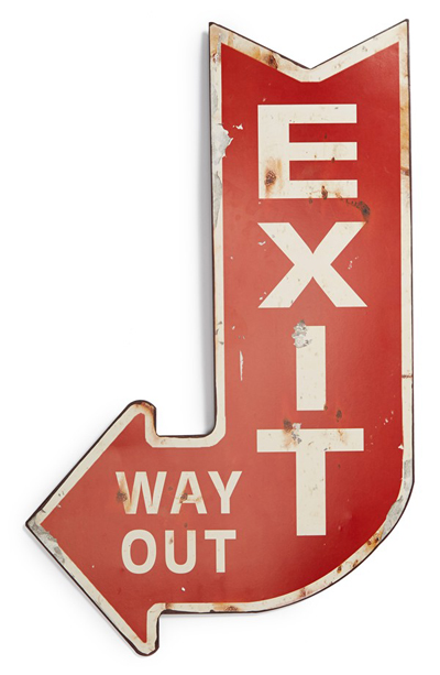 Exit Wall Sign