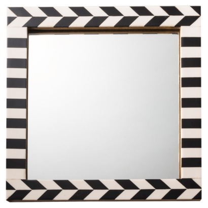 Herringbone Mirror Black/Ivory