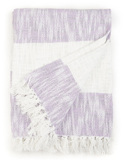 Lavender Cabana Stripe Throw
