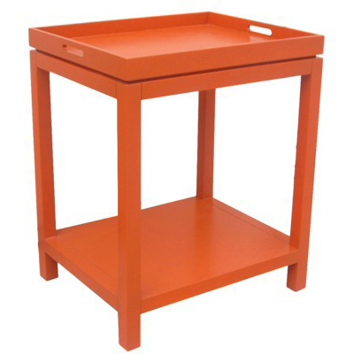 Orange Tray Top Table