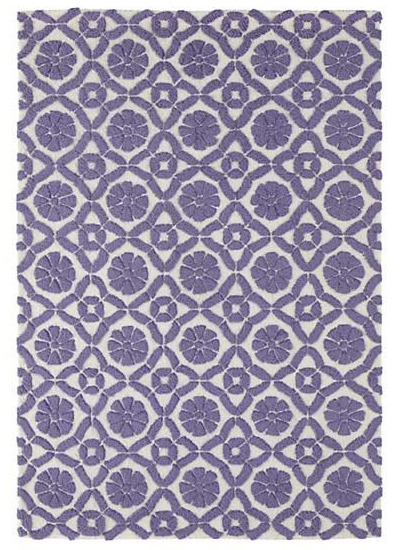 Raised Floral Pattern Rug