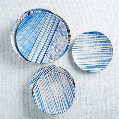 Striped Melamine Dinnerware