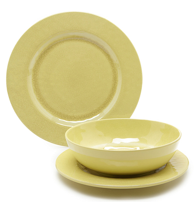 Yellow Solid Melamine Dinnerware