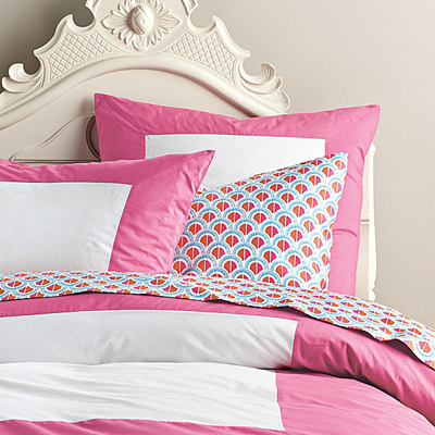 Color Frame Duvet Cover in Juice