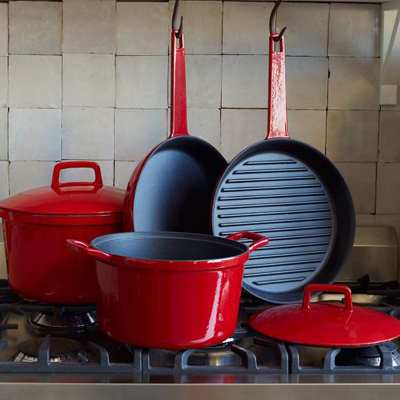 Enamel Cast Iron 6-Piece Set