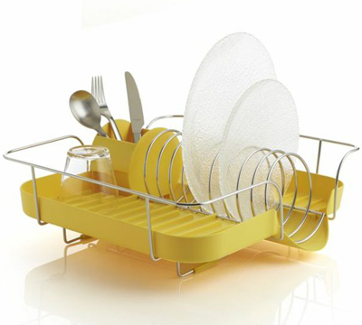 Polder Yellow Corkscrew Dish Rack