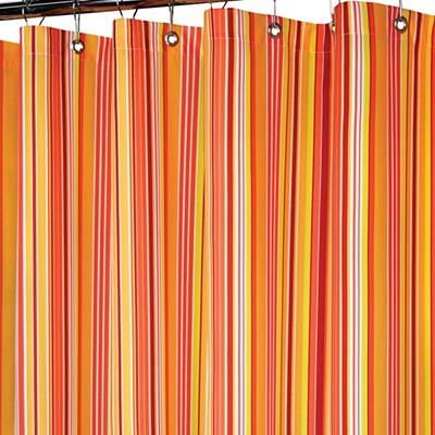 Strings Stripe Fabric Shower Curtain