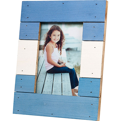 Blue & White Beach Picture Frame