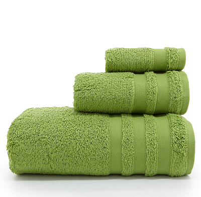 Cloud Bath Towels in Green