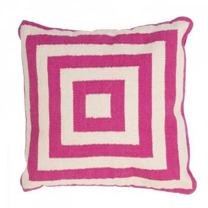 Hot Pink Squared Pillow