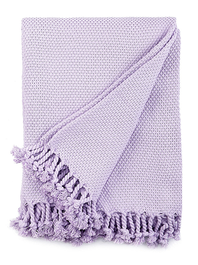 Lavender Leno Throw