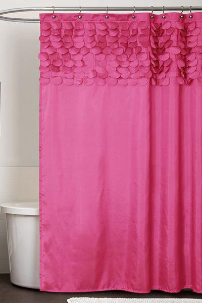 Lillian Pink Fabric Shower Curtain