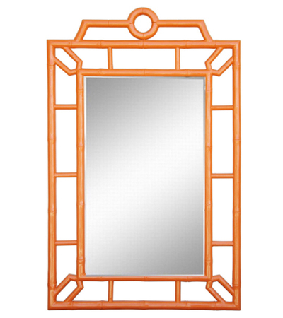 Orange Bamboo Mirror