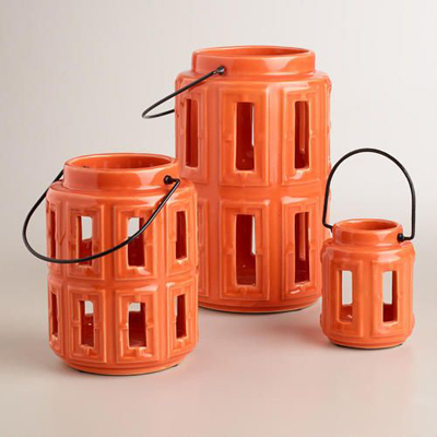 Orange Lamai Ceramic Lanterns