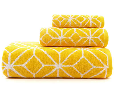 Trina Turk Yellow Trellis Bath Towels
