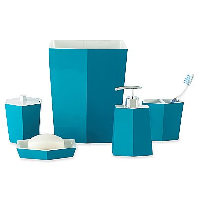 Turquoise bathroom accessories for Aqua colored bathroom accessories