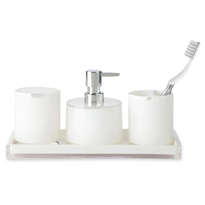 White 4-pc. Acrylic Bath Set