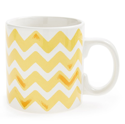 Yellow Zigzag Mug